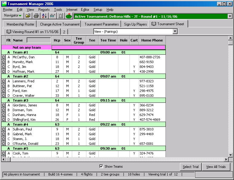 Golf tournament software for Golf tournament program template